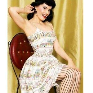 Bernie Dexter Parisian Cafe Chelsea Swing Dress
